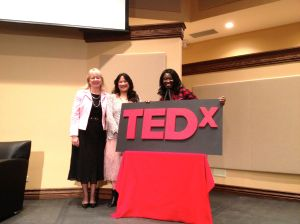 Amy Lin with Mary Ashun and Sharon Roebbelen